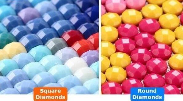 square and round diamonds